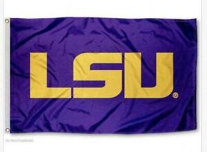 FLAG 3X5 LSU Tigers Football New Fast USA Shipping Louisiana State University