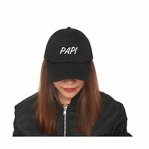 BLACK-Papi-Embroidered-Dad-Hat-Brushed-Cotton-Twill-Baseball-Cap-for-MEN-amp-WOMEN