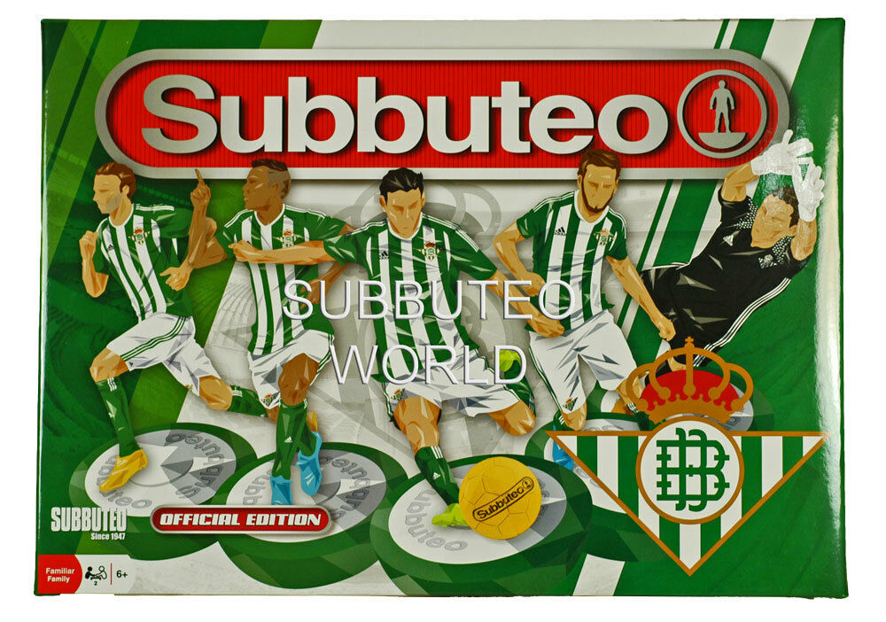 OFFICIAL 2017 REAL BETIS SUBBUTEO BOX SET PAUL LAMOND TABLE SOCCER FOOTBALL