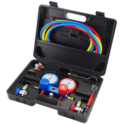 Koffer Klimaanlage Monteurhilfe 2-Wege Manometer Set für Kfz R134a R22 R12 R502