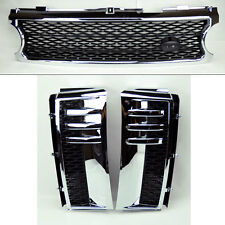 Range Rover 06-09 Mesh Chrome Blk Front Bumper Hood Grill Inc Side Fender Vents