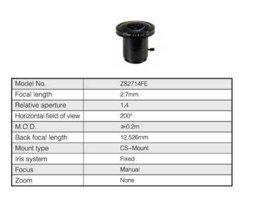 2.7mm ULTRA WIDE ANGLE CS Mount CCTV Video Camera Lens