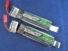 2 Turnigy nano-tech 600mah 35C Batteries Lipo Eflite Blade 120SR pro328 180QX