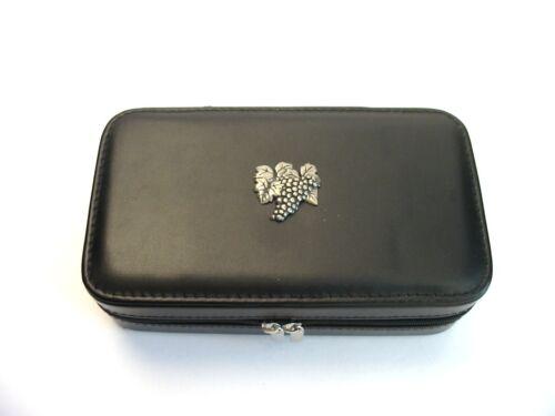 Grape Vine Design Large Black Travel Jewellery Box Mum Dad Christmas Gift NEW