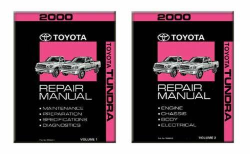 Bishko OEM Repair Maintenance Shop Manual Bound for Toyota Tundra 2000