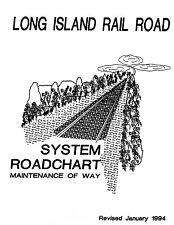 Long Island Railroad System Track Chart 1994 Diagram Profile LIRR