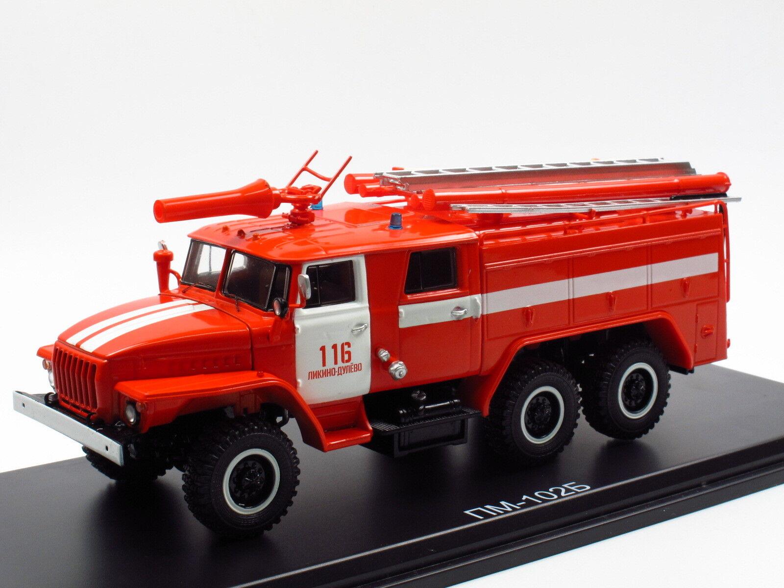 Start Scale Models SSM1234, URAL 43202 M PM-102B PM-102B PM-102B  TLF Feuerwehr Fire Tender 1 43 95b532