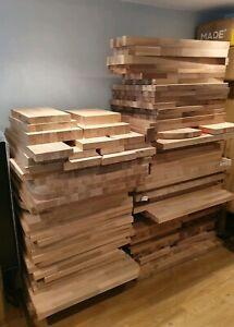 Solid Oak Walnut Worktop Offcuts