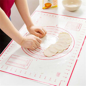 Non-Stick-Silicone-Rolling-Dough-Pad-Pastry-Bakeware-Liner-Baking-Mat-Sheet-New