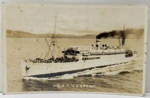 USAT-U-S-GRANT-Army-Transport-Ship-RPPC-Postcard-F9