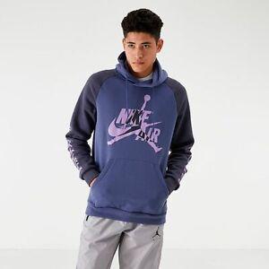 RARE-Nike-Air-Jordan-Jumpman-Classics-Hoodie-Men-039-s-SZ-S-bv6010-557-Purples