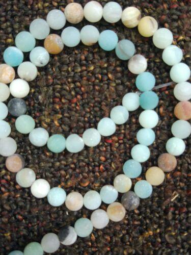 Amazonit gefrostet 6mm azul Edelstein perlas hebras hobby resolución chapucillas