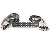 16 Channel Xlr Trs Combo Splitter Snake Cable - 15' And 30' Xlr Trunks - Rack on sale