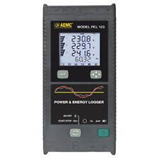 Aemc Pel 103 Basic 213762 Power Amp Energy Logger 1 2 3 Phase Lcd