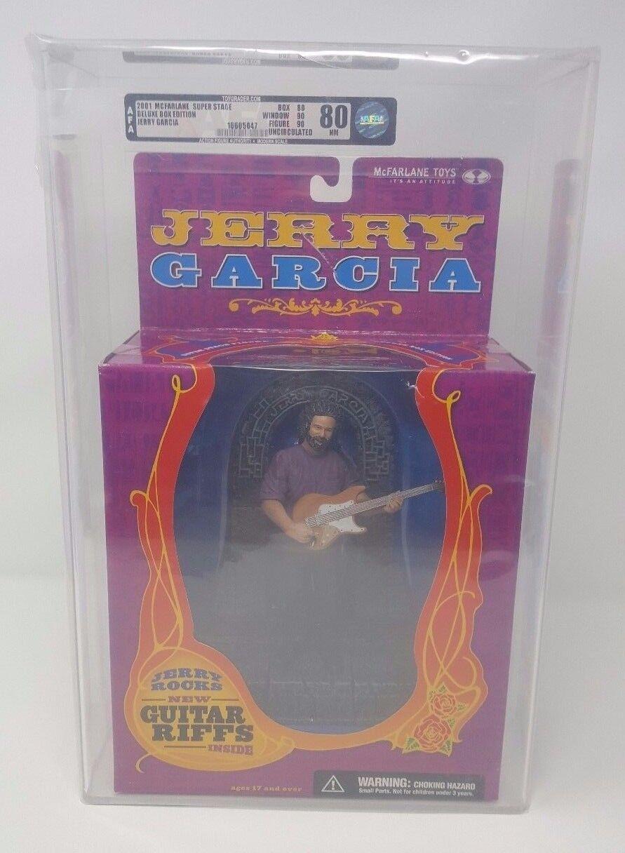 2001 JERRY GARCIA MCFARLANE TOYS SUPER STAGE DLX BOX EDT AFA UNCIRCULATED U80NM