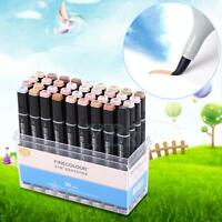 Art Graphic Drawing Twin Tip Brush Sketch Water Color Marker Pen 12/24/36 Colors