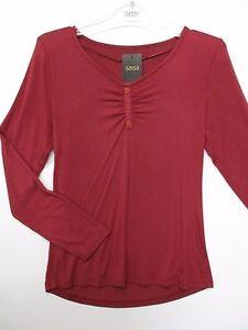 054f317b80219c Das Bild wird geladen SASSA-59003-Damen-Loungewear-T-Shirt-Schlafshirt- Langarm-