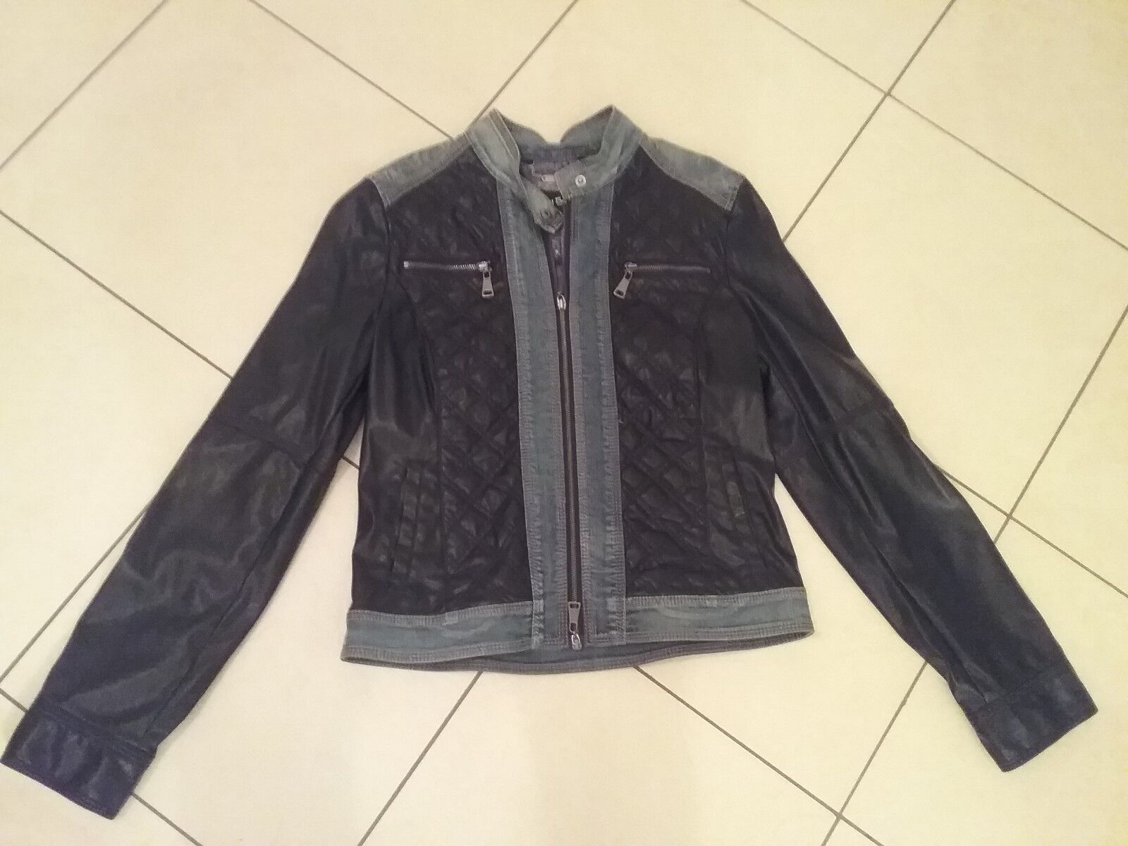 Betty Barcley Damen Jeans  Lederimitatjacke Bikerjcke brandneu Grösse 36