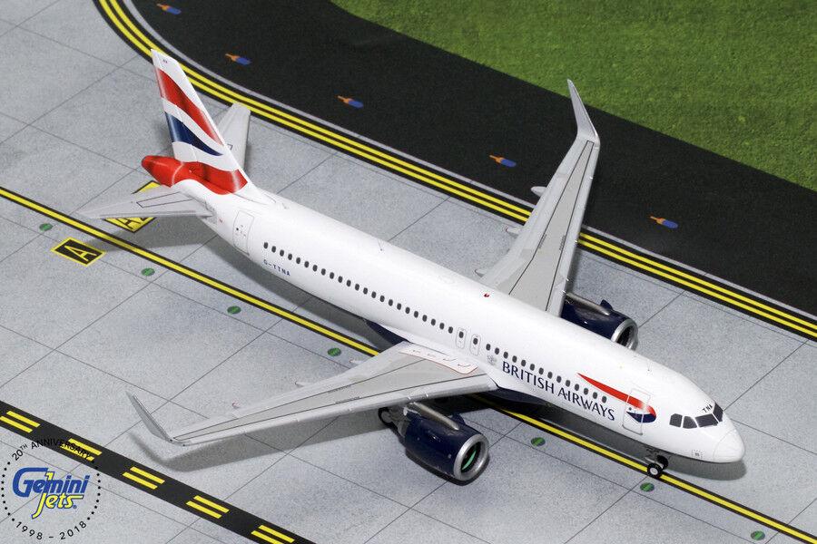 British Airways Airbus A320neo G-ttna Gemini jets G2BAW755 échelle 1 200
