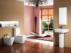 Bagno Francese Senza Bidet : Bagno completo sanitari filo muro in ceramica wc cassetta bidet e