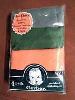 Gerber Baby Boys Cotton Burp Cloths/diapers 4 Pk Multi-color Approx 20x14