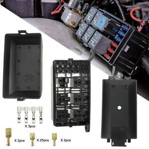 MXECO Universal 12V 6 Way Fuse Box Block Fuse Holder Box Car Vehicle Circuit Automotive Blade Car Fuse Accessory Tool