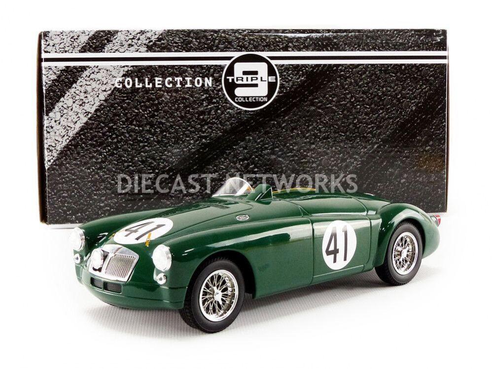 TRIPLE 9 MG EX182  Mans 1955 médaillon Miles  41 à l'échelle 1 18 NOUVELLE VERSION  grande remise