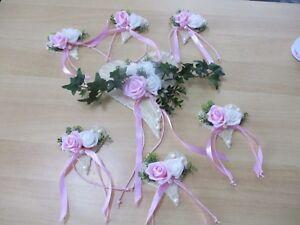Tischdekoration 7 Teilig Rosa Weiss Tischdeko Hochzeit Kommunion