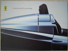 Ferrari 360 Spider Factory Brochure Excellent Condition