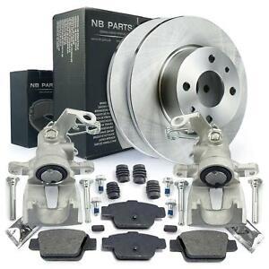 2x Bremssattel + Bremsscheiben + Bremsbeläge hinten Fiat Multipla 186 Stilo 192