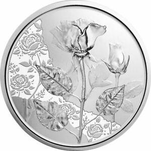 10,- Österreich 2021 - Mit der Sprache der Blumen Die Rose in Silber im Blister