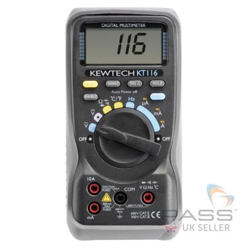Kewtech KT116 Multímetro con medición de temperatura//Reino Unido