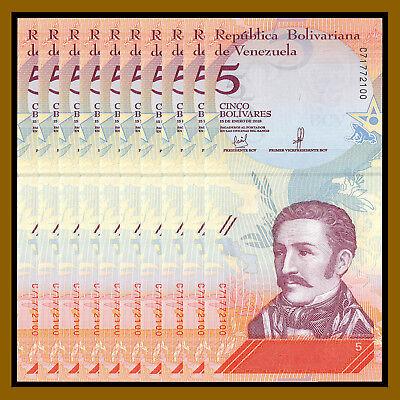 VENEZUELA BANKNOTES LOT 8 BUNDLE SOBERANOS 2018 UNC 800 PCS