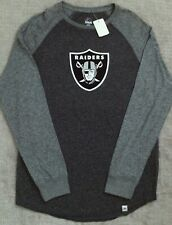 Majestic Oakland Raiders Charcoal Static Marled Raglan Long Sleeve T-shirt