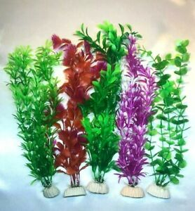 ( 5- Pack ) Aquarium Decorative Plastic Plants - Fast Shipping