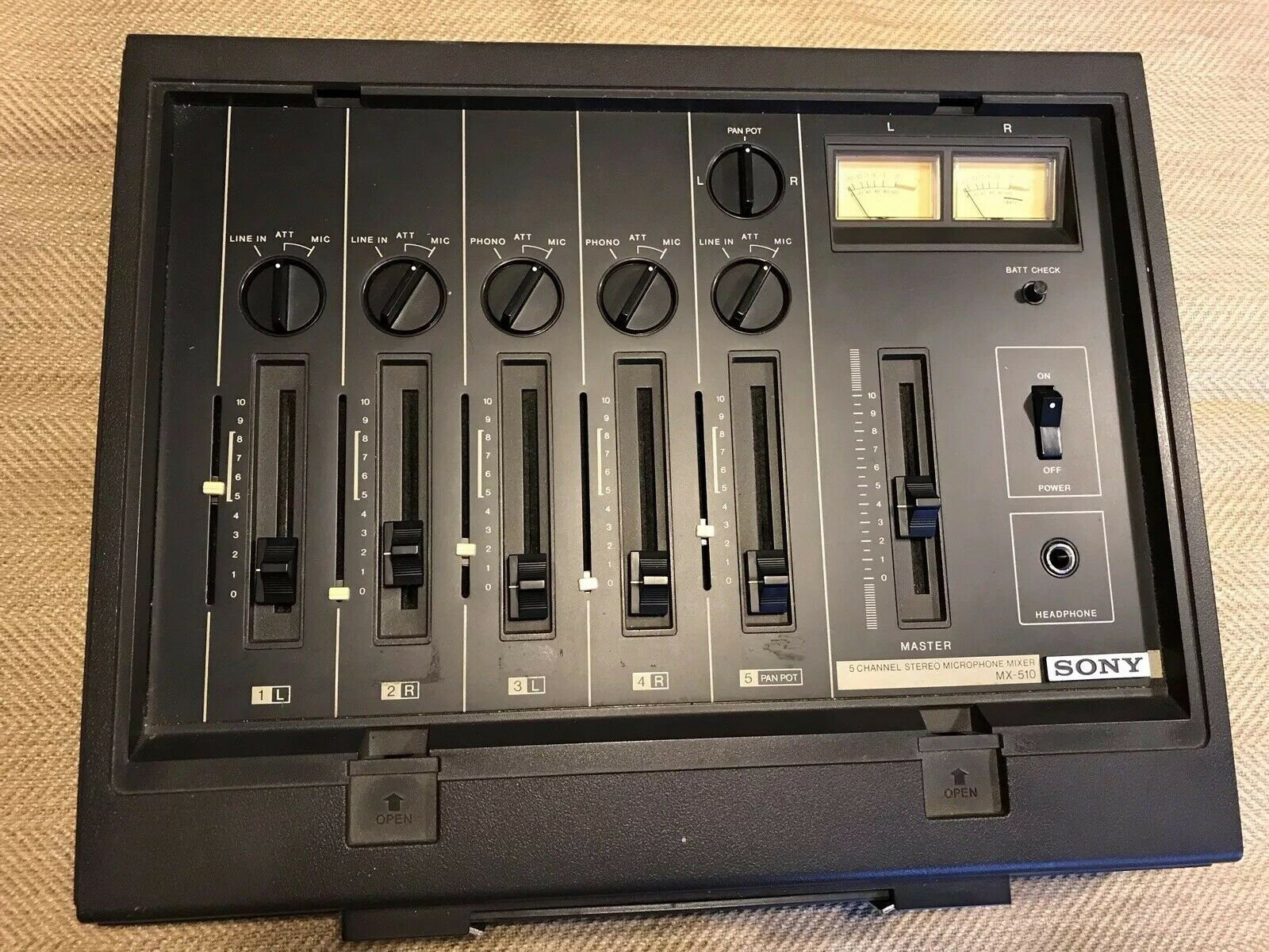 Sony MX-510   5 Channel Stereo Microphone Mixer