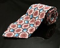 Towncraft Classic Neck Tie Red And Blue Geometric Blue Tag Necktie