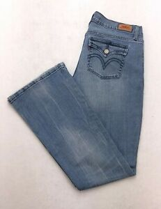 8f18c0db80f N197 Levi's 524 Too SuperLow Ultra Low Rise Bootcut Stretch Jeans 9 ...