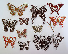 Intricate Butterfly Butterflies Paper Die Cut Embellishments scrapbooking 12 pc