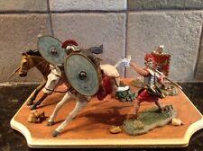 Toy Soldiers 4 54mm Plastic Roman Legionaries + 2 Horses