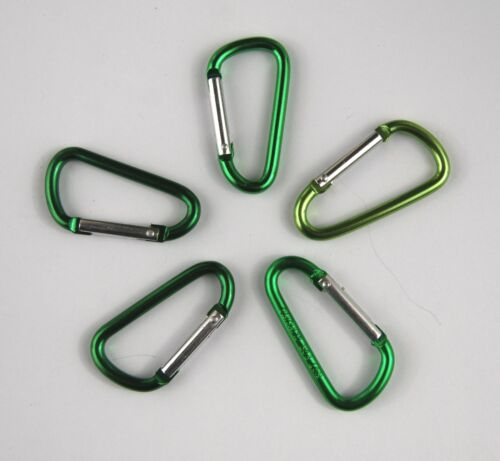 Various Coloured Small Carabiner Clips Snap Hook Keyring Camping Hook Sports