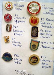 10 OLD badge pins sport Bulgaria football club metal | eBay
