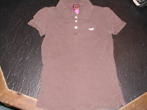 08026189b Image is loading GIRLS-HOLLISTER-SURF-COMPANY-POLO-SHIRT-WITH-HOLLISTER-