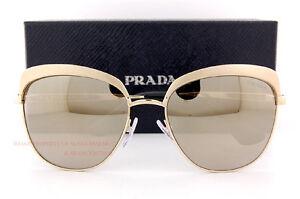 fe9ef1f9e436 Brand New Prada Sunglasses PR 51TS VAQ 1C0 Gold Gold Mirrror For ...
