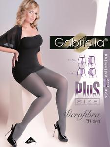 Gabriella-Mikrofaser-162-2XL-3XL-Plus-Size-Strumpfhose-Schwarz-60DEN-Nylons-Hot