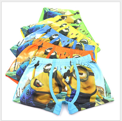 4pcs Toddler Baby Boys 3D children cartoon Underwear 100/%Cotton Boxer Shorts