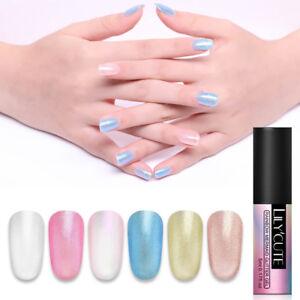 LILYCUTE Rainbow Gel Polish 5ml Glitter Soak Off Nail Art UV LED Gel Varnish