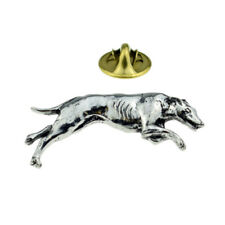 Hound Dog Head Pewter Pin Badge