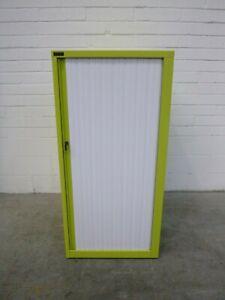 Schiavello-Tambour-Office-Garage-Storage-Cabinet-Bright-Green-Metal-39791