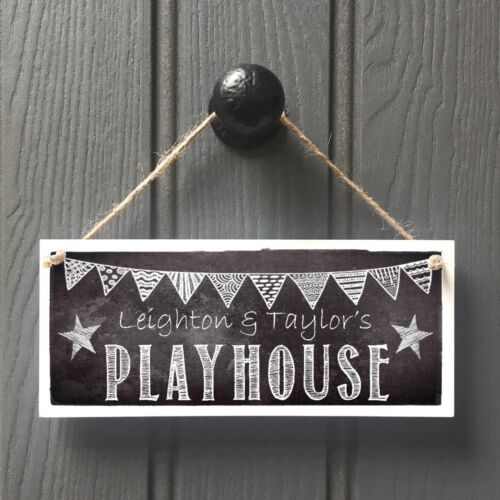 Personalised Boys Playhouse Door Sign Handmade Kids Chalkboard Playhouse Sign